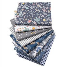 8 pieces per set New All Cotton Twill Printed Fabric DIY Hand Patchwork Group Pure Cotton Small Floral Fabricfabric by the yard