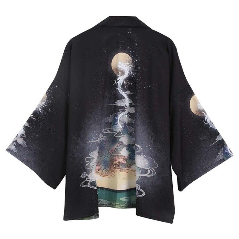 Japanese Kimonos Cardigan Robe Men Women Printing Causal Sunscreen Clothes Thin Loose Summer Kimonos Yukata Asian Clothes New