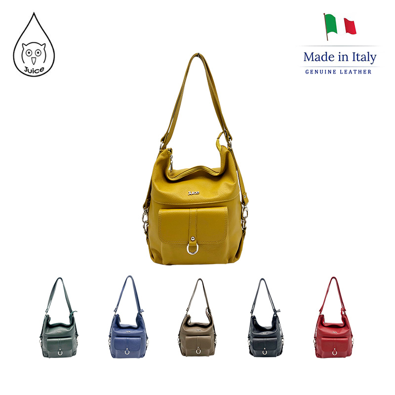 JUICE ,made In Italy, Genuine Leather, Women Bag,Shoulder Bags,dollaro Leather Soft Leather 112004