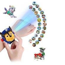 Reloj Digital de proyección de la patrulla canina para niños, hora de desarrollar la inteligencia, aprender perro, Everest, figura de Anime, juguete, regalo