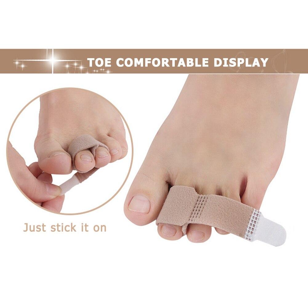 1pc dedo do pé tala separador protetor envolve amortecido bandagens martelo alisador corrector ferramenta de cuidados com os pés proteção do dedo