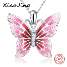 100% 925 sterling silver cute animal butterfly chain pendant&necklace with red enamel diy fashion jewelry making for lover gifts одеяло primavelle tiziana