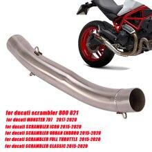 Глушитель выхлопной трубы из нержавеющей стали для мотоцикла