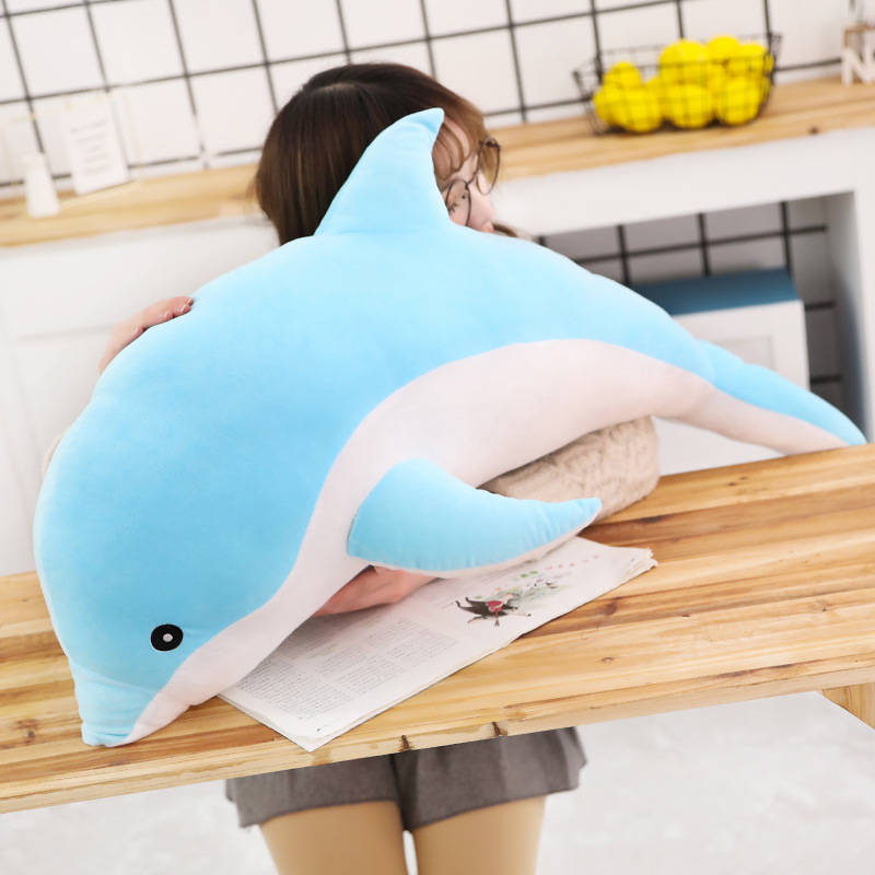 48-90cm Dolphin Toys 3D Novelty Throw Pillows Soft Seal Plush Stuffed Animal House Party Hold Pillow