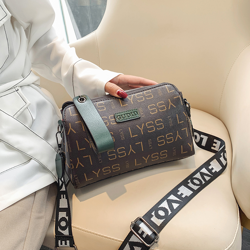 2019 Fashion Letter Print Barrel-shapred Women Bag Adjustable Strap Shoulder Bag Handbag For Women Luxury Designer Luis Vuiton