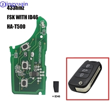 jingyuqin Car Remote FSK With Id46 HA-T500 Key Board For Kia K2 K5 Rio 3 Picanto Ceed Cerato Sportage For Hyundai