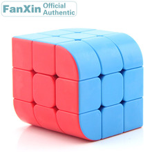 цена на FanXin 3x3x3 Trihedron Magic Cube Cambered Surface Professional Speed Puzzle Twisty Brain Teaser Antistress Educational Toys