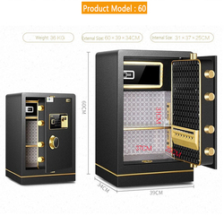Fingerprint Safe Box Electronic Password Safe Deposit Box 60 inch All Steel For Home Office