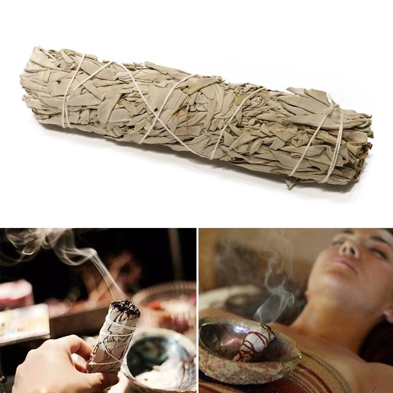 White Sage Smudges Sticks Bundles Wands For House Cleansing Negativity Removal Smoky Purification  J99Store