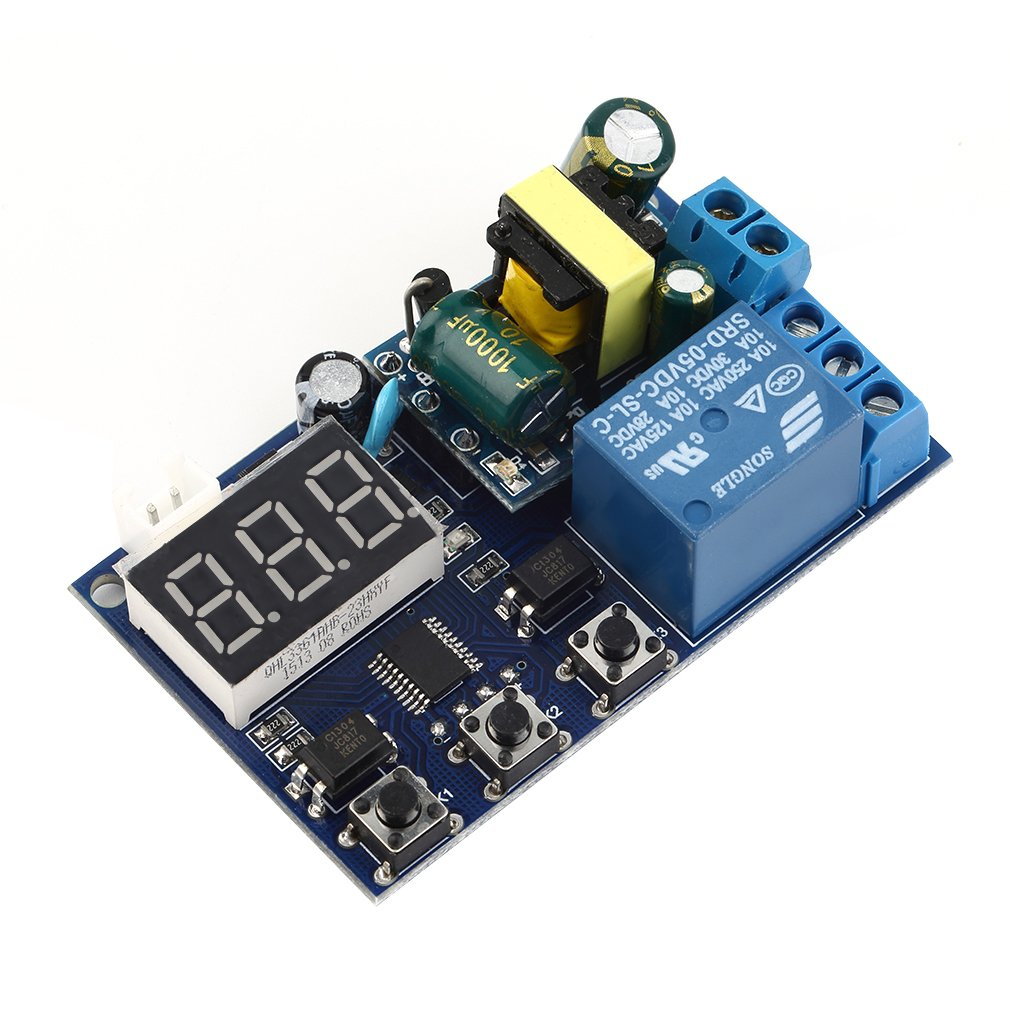 In Stock AC 220V Relay Coil Module  Relay Delay Switch Module Input/Output Delay Off Switch Module Wholesale