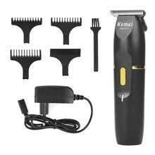 Kemei Беспроводная Машинка для стрижки волос профессиональный триммер электрический резак для волос Машинка для стрижки волос триммер для бороды cortapelos