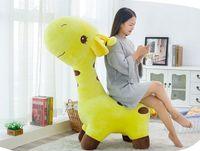 huge 120cm lovely cartoon giraffe plush toy soft doll seat. home decoration Christmas gift b0855