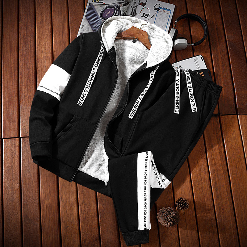 Long Sleeve Pullover Hoody Men's Hooded Korean-style Am Exchanging Hooded Sports Set Men Two-Piece Autumn A Set Of Clothes