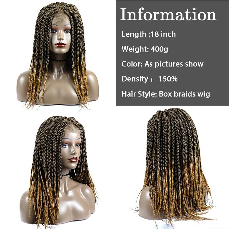 cabelo do corpo resistente ao calor fibra 4x4lace caixa tranças peruca