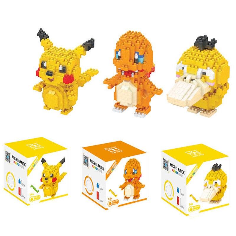 Pokemon Building Blocks Anime Figures Assembling Plastic Abs Diy Toys Creative Educational Model Toys for Children Boxed New 1
