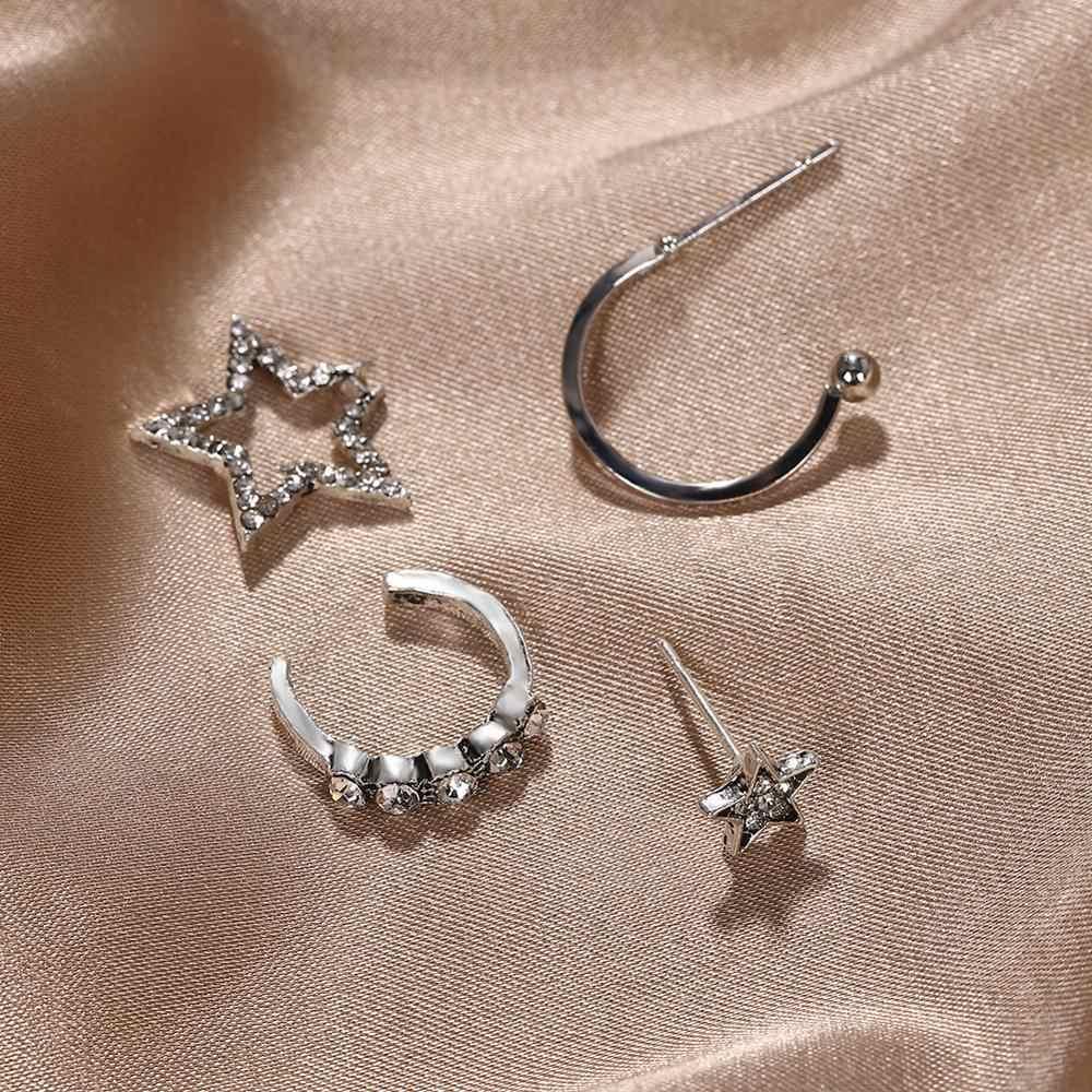 2020 바 여성 귀걸이 다양 한 설정 다른 모양 조합 보헤미아 간단한 패션 소녀 귀걸이 세트 라인 석 속지