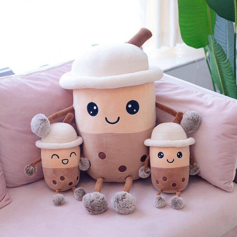 Boxi New  23/50cm Kawaii Boba Plush Doll Toys New Kawaii Soft Stuffed Bubble Milk Tea Pillows Cushion Birthday Gift Toy