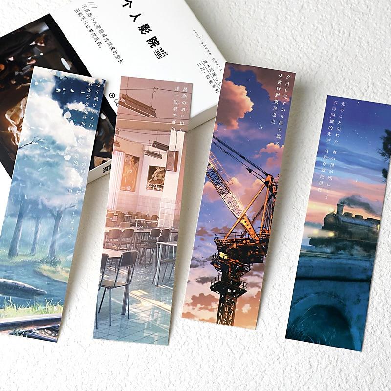 30 шт./компл. креативная бумажная Закладка Sunny Sky в японском стиле, иллюстрация, книжка, маркеры, карточка для сообщений, канцелярские товары