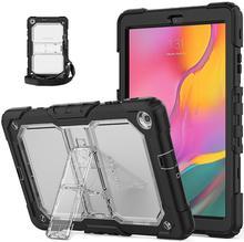 Samsung Galaxy Tab için bir 10.1 2019 T510 T515 SM T515 çocuklar ağır omuz askısı darbeye standı kılıf kapak SM T510
