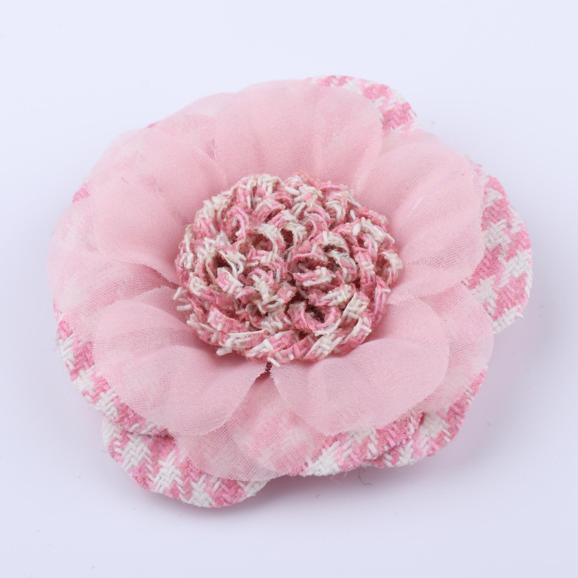 5 pçs/cetim pano cabeça de flor decoração de casamento diy scrapbooking headdress artesanato falso flor artificial pano flor casamento par