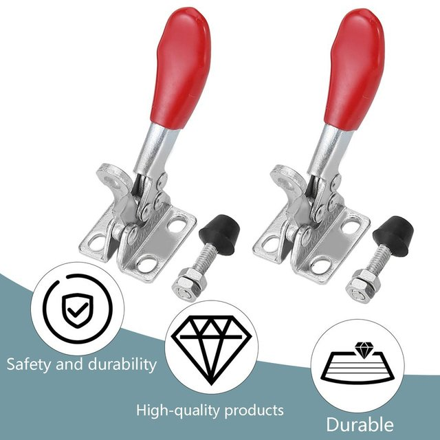 OUTAD 2Pcs CNC Fixture Quick Clamp Fixture Plate Engraving Machine Fastening Platen Quick Clamp For Holding Engraving Material
