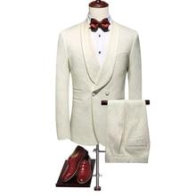 2019 (Jacket+Pants) Wonderful Groomsmen Tuxedos Bu