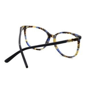 Image 4 - יד משקפיים מסגרות מכירה לוהטת ברור נשים אצטט אופנה ליידי Oversize גדול משקפי אדום דמי משקפיים FVG7057