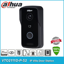 Original Dahua DHI-VTO2111D-P-S2 P2P IR POE Video Intercom IP Villa Tür Station Outdoor Control Zwei Schlösser VTO2111D-P-S2