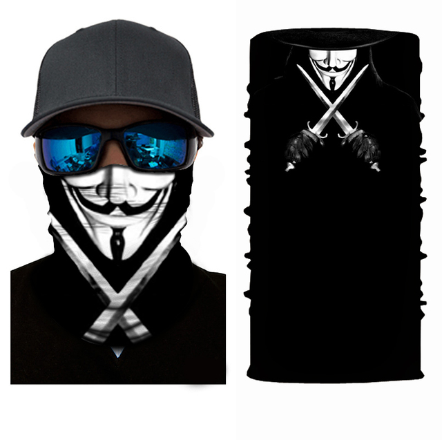 Fashion Motorcycle Face Mask Moto Balaclava Skull Mask Motor Scarf Halloween Panuelos Para Moto Face Shield Neck Warmer Headwear 1