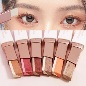 Double Color Eyeshadow Stick Stereo Shimmer Color Eye Shadow Cream Pen Eye Makeup Palette Cosmetics Makeup Pencil TSLM2 1
