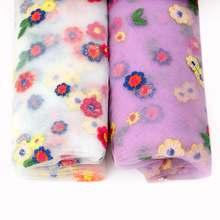 Jojo луки 1 шт цветок вышивка; Кисея; Сетчатая ткань 95*145