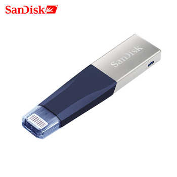 SanDisk USB3.0 USB Flash Drive 256GB OTG Lightning Connector  usb Disk32GB Pen Drive 64GB 128GB   For iPhone X 8/7/7Plus/6/6plus - DISCOUNT ITEM  50% OFF All Category