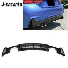 Carbon Fiber Rear Bumper Lip Diffuser Spoiler for BMW 4 series F32 F33 F36 420i 428i 435i 420d 428d 435d M-tech 2014 - 2019