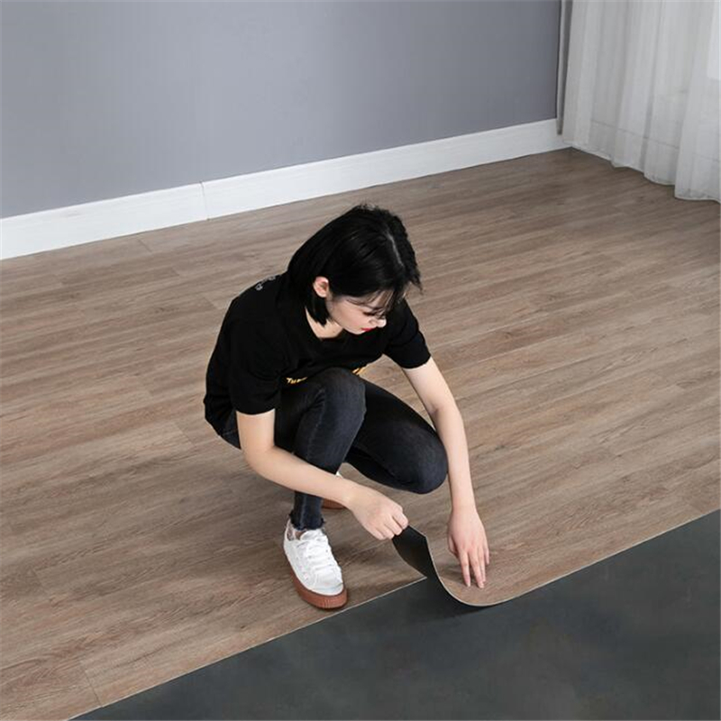PVC Floor Glue Thick Waterproof Wear-resistant Self-adhesive Wood Floor Leather Cement Floor Sticker Ins Net Red Dormitory Home