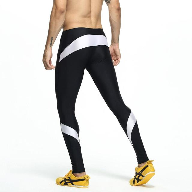Fashion Trousers Men's Lounge Pants Stretch Workout Nylon pants Compress Fitness Long Johns Shapewear Home and Out Door 1