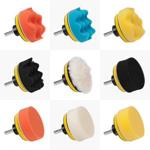 Image 2 - 22Pcs Buffing Pad Set Thread 3/4/5/6/ inch Auto Car Polishing pad Kit for Car Polisher + Drill Adaptor M10 M14 Power Tools