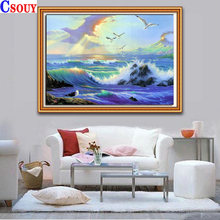 Орел 5d diy Алмазная картина морская волна мозаика для рисования