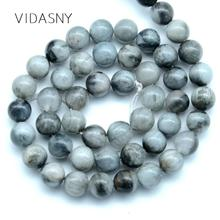 Natural Gem Eagle Eye Stone Round Loose Beads For Jewelry Making 6mm 8mm Spacer Beads Diy Bracelet Accessories 15inch Wholesale 5mm 6mm natural pietersite stone beads natural gem stone beads diy loose beads for jewelry making strand 15free shipping