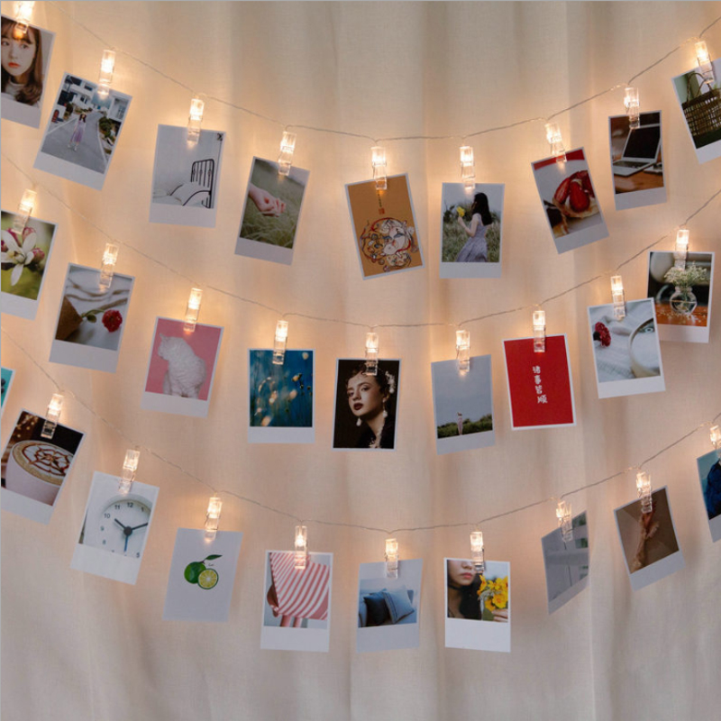 Bedroom A Living Room LED Photo Clip Lamp Photo Wall Transparent String Lamp String Light-emitting Diode Decorative Lamp