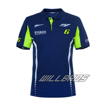2017 NEW 100% Cotton comfort Moto GP for Yamaha M1 Team Polo Shirt Motorcycle Men's Blue T-shirt Factory Racing Motocross Bike цена и фото