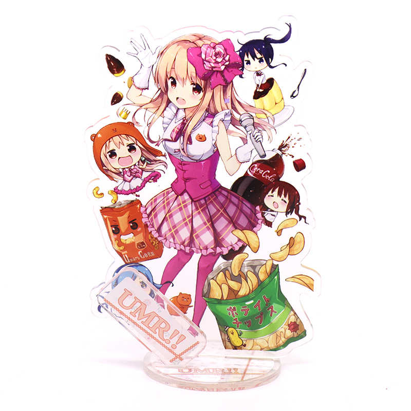 1pc Kawaii akrylowy stojak rysunek Himouto! Umaru-chan miniOVA dwustronna drukowana dekoracja na biurko rekwizyty do cosplay świąteczne prezenty nowość