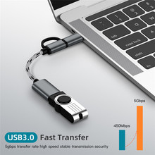 Kabel adaptera 2 w 1 Adapter OTG Micro USB dla Xiaomi Huawei Micro USB type-c na USB 3 0 kabel adaptera akcesoria do telefonów komórkowych tanie tanio CN (pochodzenie) dropshipping wholesale