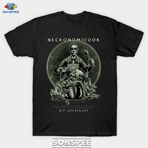 SONSPEE Necronomicook Мужская футболка с 3D принтом Cthulhu Lovecraft Повседневная в стиле хип-хоп с круглым вырезом с коротким рукавом Мужские Женские футбол...