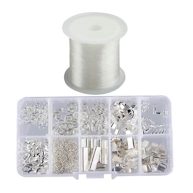 Online Shop 1 Box Jewelry Findings Kit Set Jump Rings Hook Clasps