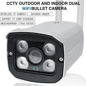 Image 3 - Cámara de vigilancia IP para exteriores 720P 1080P, cámara de Audio tipo bala CCTV con Wifi para exteriores, impermeable, visión nocturna de Metal, aplicación Yoosee