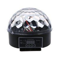 أعلى DMX512 الإضاءة المشهد DJ ديسكو لمبة LED RGB مصباح الكريستال الكرة أضواء سواريه نادي بار