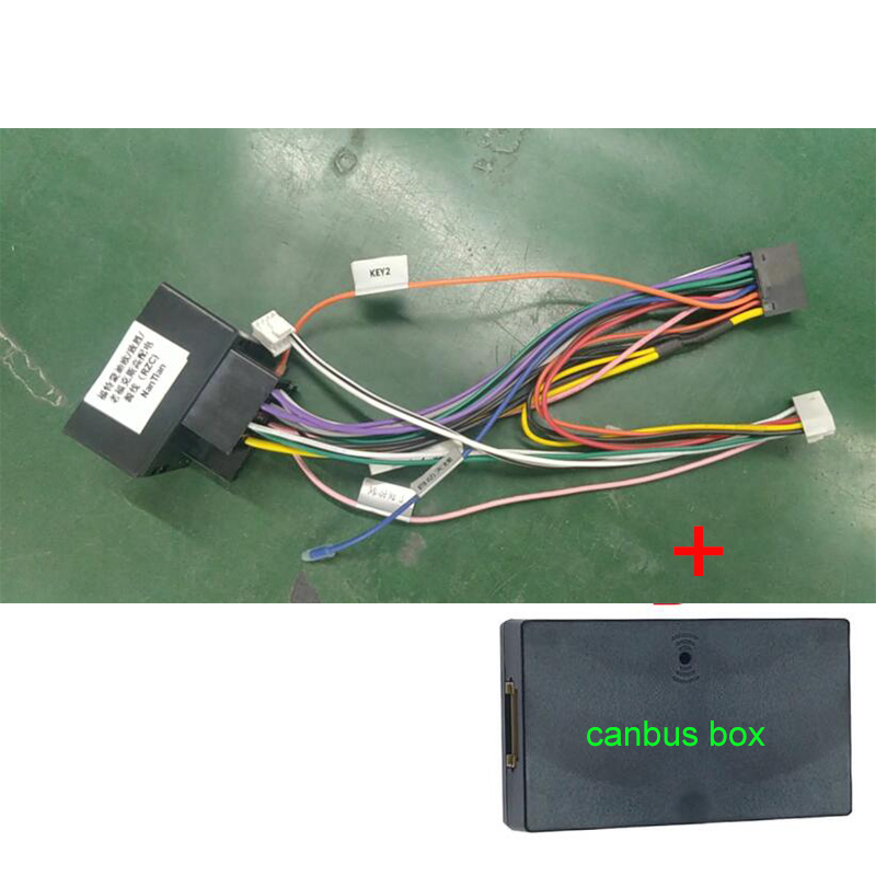 FEELDO Car Audio Radio 16PIN Android Power Cable Adapter With Canbus Box For Ford Focus/c-max/mondeo