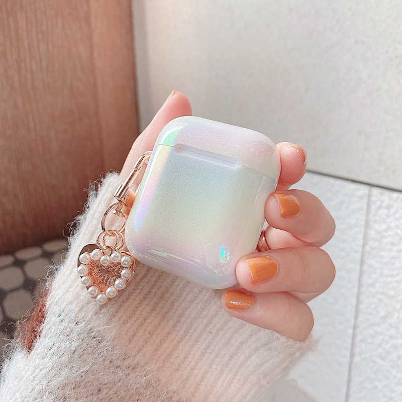 Купить чехол для наушников 3d love pearl shell keychain жесткий с каплями