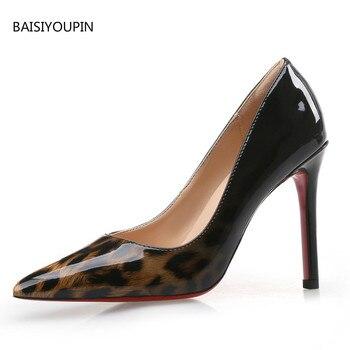Sexy Leopard Four Seasons Good-quality  Super High Women Shoes 6cm/8cm/10cm High Heels Ladies Office Party Pumps Female Shoes