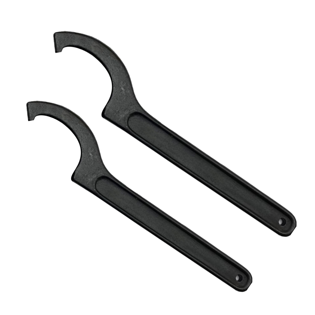 2Pcs High Carbon Steel ER Hook Wrench Spanner CNC Collet Chuck Clamping